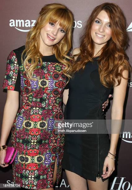 Actress Bella Thorne and her sister Dani Thorne attend The Hollywood Reporter's 'Next Gen' 20th Anniversary Gala at Hammer Museum on November 6 2013...