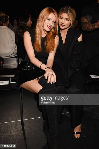 Actress Bella Thorne and Kylie Jenner attend Vera Wang Spring 2016 during New York Fashion Week at Cedar Lake on September 15 2015 in New York City