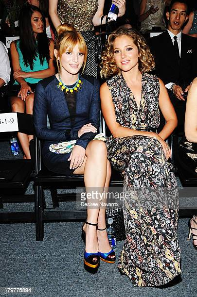 Actress Bella Thorne and Margarita Levieva attend the Nicole Miller show during Spring 2014 MercedesBenz Fashion Week at The Studio at Lincoln Center...