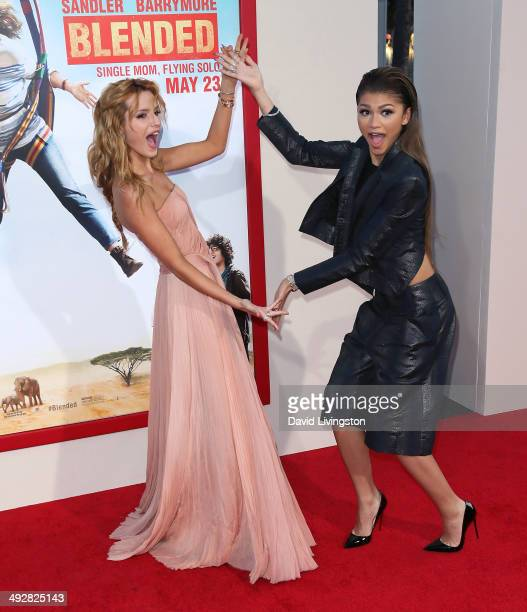 Actress Bella Thorne and singer Zendaya attend the Los Angeles premiere of Blended at the TCL Chinese Theatre on May 21 2014 in Hollywood California