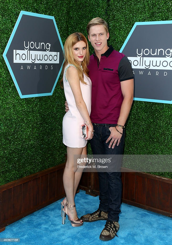 Actress Bella Thorne (L) and Tristan Klier attend the 2014 Young Hollywood Awards brought to you by Samsung Galaxy at The Wiltern on July 27, 2014 in Los Angeles, California.