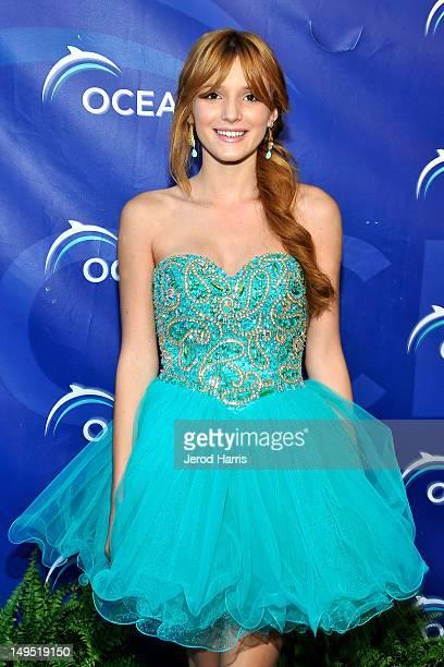 Actress Bella Thorne arrives at 2012 Oceana's SeaChange Summer Party on July 29 2012 in Laguna Beach California