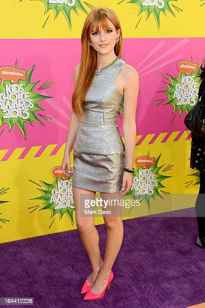 Actress Bella Thorne arrives at Nickelodeon's 26th Annual Kids' Choice Awards at USC Galen Center on March 23 2013 in Los Angeles California