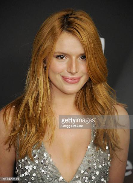 Actress Bella Thorne arrives at the 16th Annual Warner Bros. And InStyle Post-Golden Globe Party at The Beverly Hilton Hotel on January 11, 2015 in...
