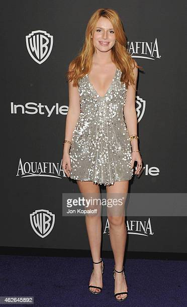 Actress Bella Thorne arrives at the 16th Annual Warner Bros And InStyle PostGolden Globe Party at The Beverly Hilton Hotel on January 11 2015 in...