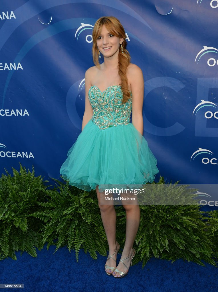 Actress Bella Thorne arrives at the 2012 Oceana's SeaChange Party at a private residence on July 29, 2012 in Laguna Beach, California.