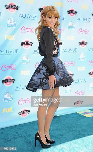 Actress Bella Thorne arrives at the 2013 Teen Choice Awards at Gibson Amphitheatre on August 11 2013 in Universal City California