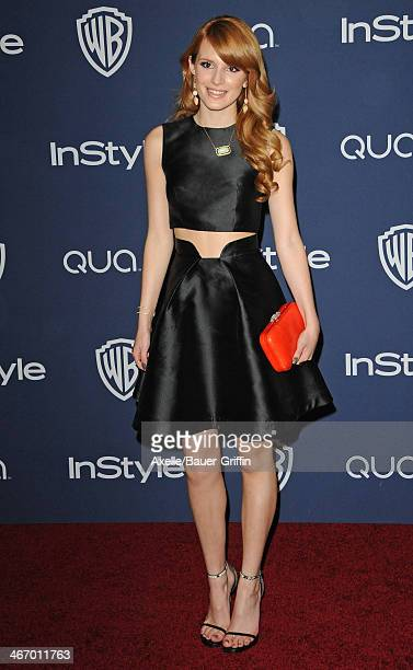 Actress Bella Thorne arrives at the 2014 InStyle And Warner Bros 71st Annual Golden Globe Awards PostParty at The Beverly Hilton Hotel on January 12...