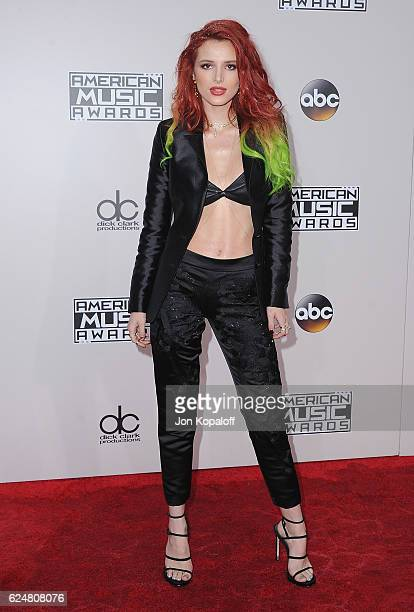 Actress Bella Thorne arrives at the 2016 American Music Awards at Microsoft Theater on November 20 2016 in Los Angeles California