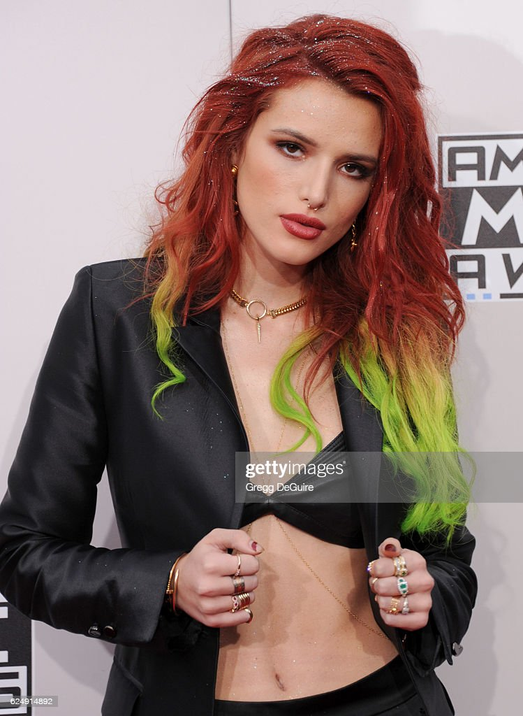 Actress Bella Thorne arrives at the 2016 American Music Awards at Microsoft Theater on November 20, 2016 in Los Angeles, California.
