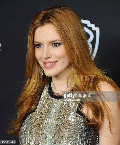 Actress Bella Thorne arrives at the 2016 InStyle And Warner Bros 73rd Annual Golden Globe Awards PostParty at The Beverly Hilton Hotel on January 10...