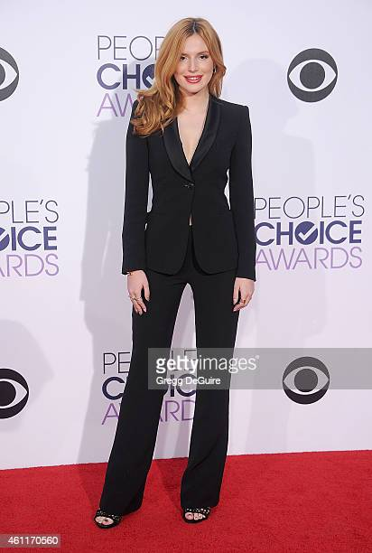 Actress Bella Thorne arrives at The 41st Annual People's Choice Awards at Nokia Theatre LA Live on January 7 2015 in Los Angeles California