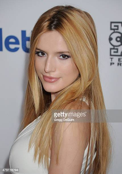 Actress Bella Thorne arrives at the 6th Annual Thirst Gala at The Beverly Hilton Hotel on June 30 2015 in Beverly Hills California