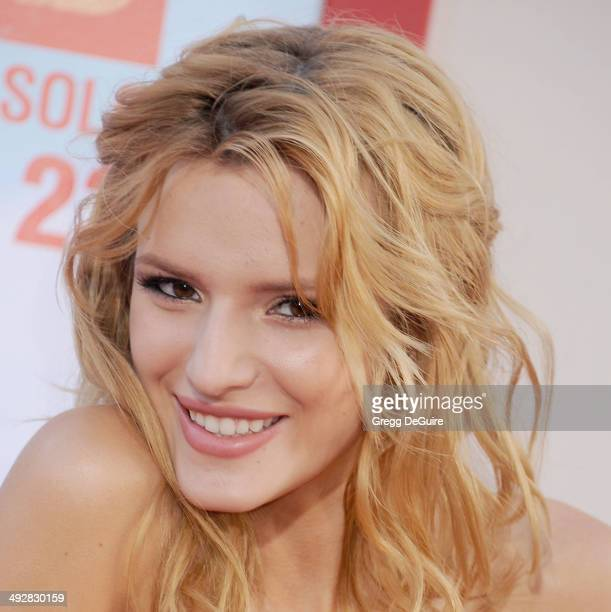 Actress Bella Thorne arrives at the Los Angeles premiere of 'Blended' at TCL Chinese Theatre on May 21 2014 in Hollywood California