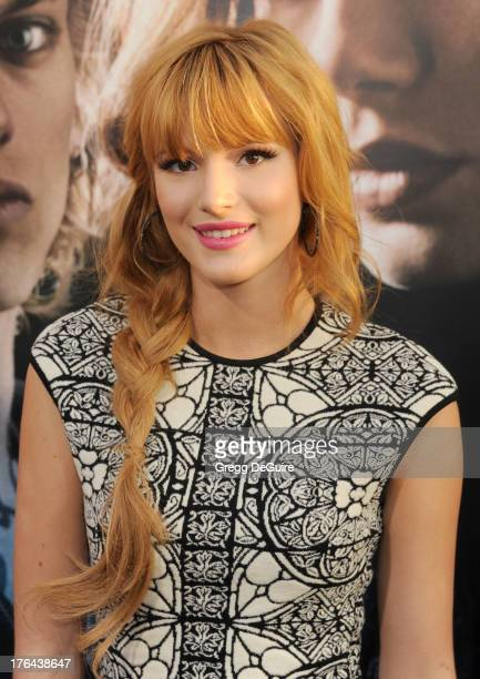 """Actress Bella Thorne arrives at the Los Angeles premiere of """"The Mortal Instruments: City Of Bones"""" at ArcLight Cinemas Cinerama Dome on August 12,..."""
