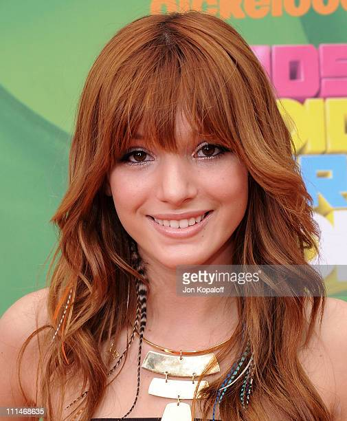 Actress Bella Thorne arrives at the Nickelodeon's 2011 Kids' Choice Awards at USC Galen Center on April 2 2011 in Los Angeles California