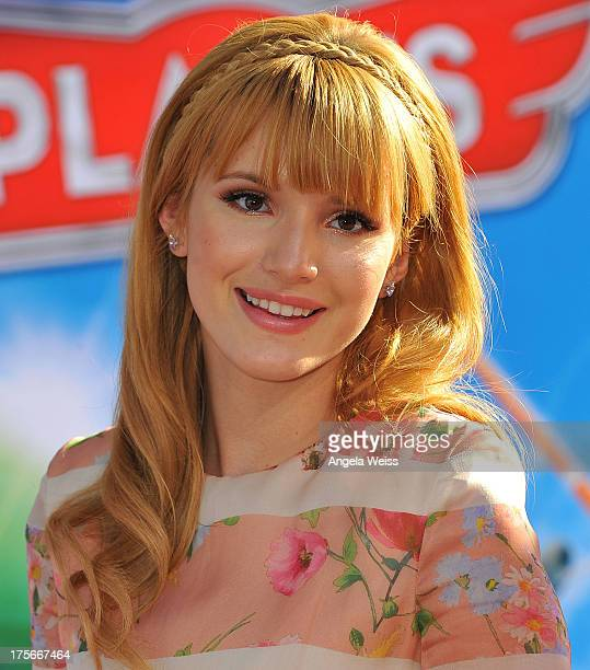 Actress Bella Thorne arrives at the premiere of Disney's 'Planes' presented by Target at the El Capitan Theatre on August 5, 2013 in Hollywood,...