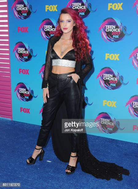 Actress Bella Thorne arrives at the Teen Choice Awards 2017 at Galen Center on August 13 2017 in Los Angeles California