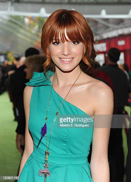 Actress Bella Thorne arrives at Walt Disney Presents The Premiere of 'The Muppets' at El Capitan Theatre on November 12 2011 in Los Angeles California
