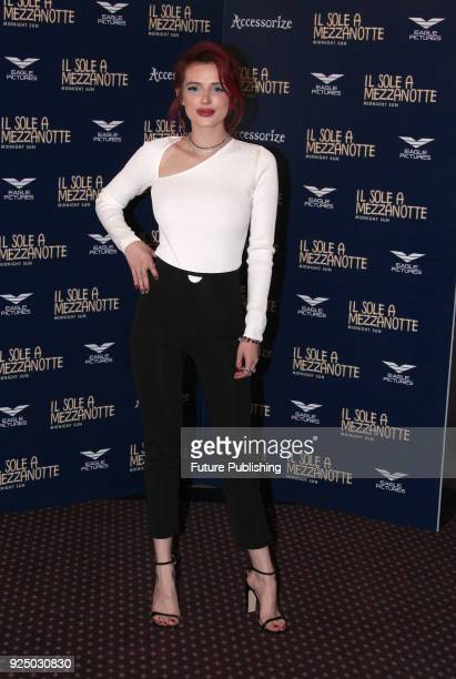 Actress Bella Thorne attend at the photocall Il sole di mezzanotteMidnight sunat Rome RAVAGLIPHOTOPHOTOGRAPH BY Marco Ravagli / Barcroft Images