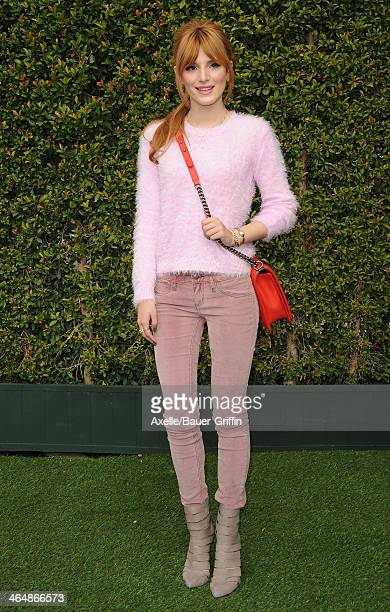 Actress Bella Thorne attends a celebration of Gold and Glamour hosted by LoveGold at Chateau Marmont on January 9 2014 in Los Angeles California