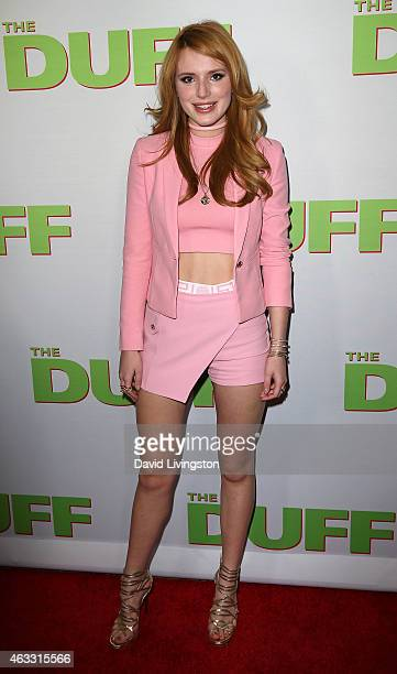 Actress Bella Thorne attends a fan screening of CBS Films' The Duff at TCL Chinese 6 Theatres on February 12 2015 in Hollywood California