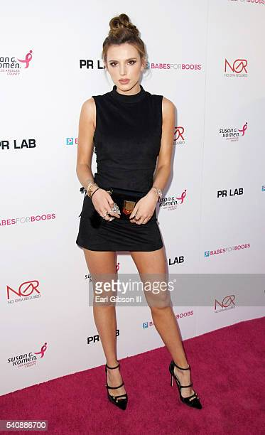 Actress Bella Thorne attends Babes For Boobs Bachelor Auction Benefitting The Los Angeles County Affiliate Of Susan G Komen on June 16 2016 in Los...