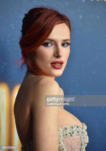 Actress Bella Thorne attends Global Road Entertainment's world premiere of 'Midnight Sun' at ArcLight Hollywood on March 15, 2018 in Hollywood,...