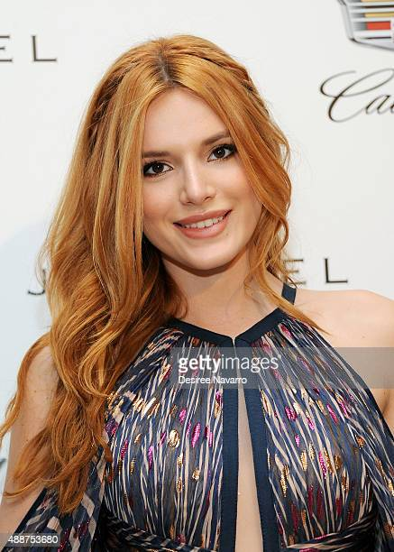 Actress Bella Thorne attends J Mendel Spring 2016 fashion show during New York Fashion Week at 330 Hudson St on September 17 2015 in New York City