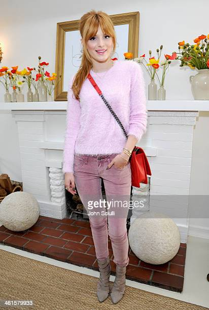 Actress Bella Thorne attends LOVEGOLD Luncheon celebrating Michelle Dockery at Chateau Marmont on January 9 2014 in Los Angeles California