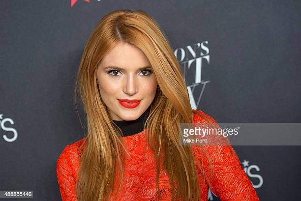 Actress Bella Thorne attends Macy's Presents Fashion's Front Row during Spring 2016 New York Fashion Week at The Theater at Madison Square Garden on...