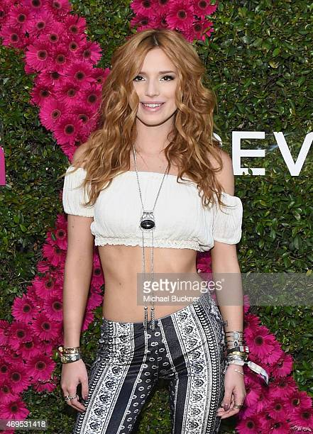 Actress Bella Thorne attends People StyleWatch REVOLVE Fashion and Festival Event at Avalon Palm Springs on April 11 2015 in Palm Springs California