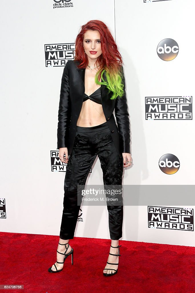 Actress Bella Thorne attends the 2016 American Music Awards at Microsoft Theater on November 20, 2016 in Los Angeles, California.