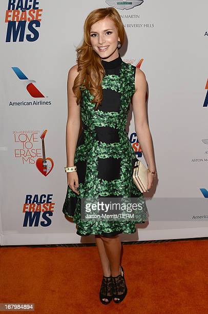 """Actress Bella Thorne attends the 20th Annual Race To Erase MS Gala """"Love To Erase MS"""" at the Hyatt Regency Century Plaza on May 3, 2013 in Century..."""