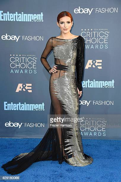Actress Bella Thorne attends The 22nd Annual Critics' Choice Awards at Barker Hangar on December 11 2016 in Santa Monica California