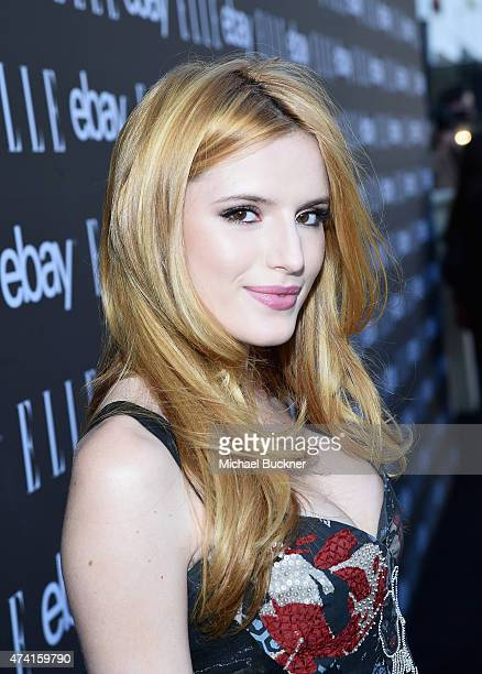 Actress Bella Thorne attends the 6th annual ELLE Women In Music celebration presented By eBay Hosted by Robbie Myers with performances by Alanis...