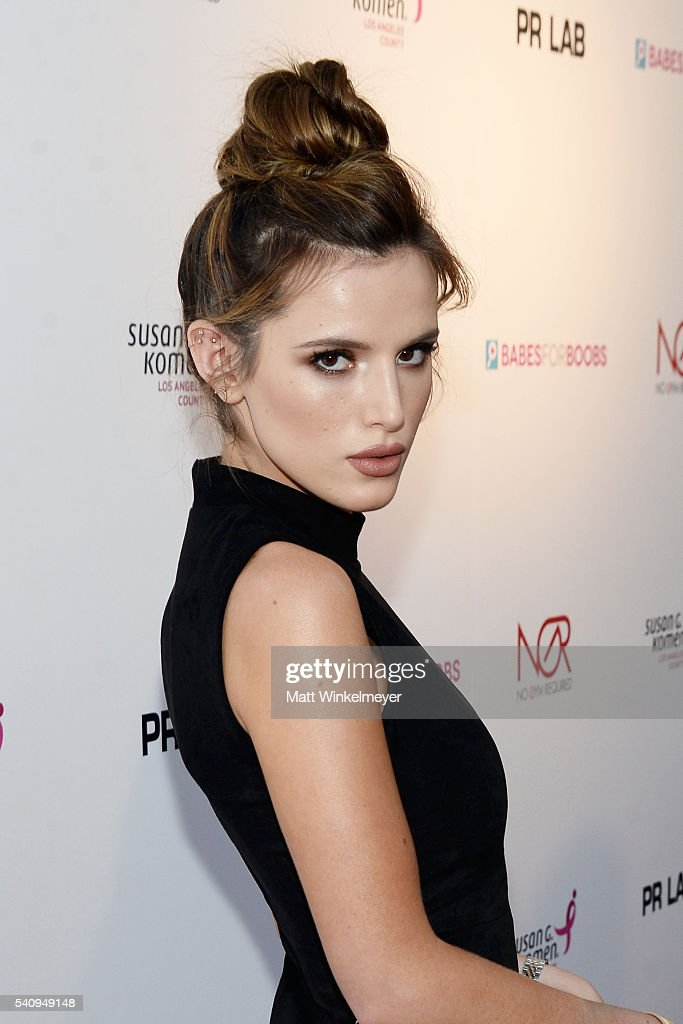 Actress Bella Thorne attends the Babes for Boobs Bachelor Auction benefitting the Los Angeles County Affiliate of Susan G. Komen on June 16, 2016 in Los Angeles, California.