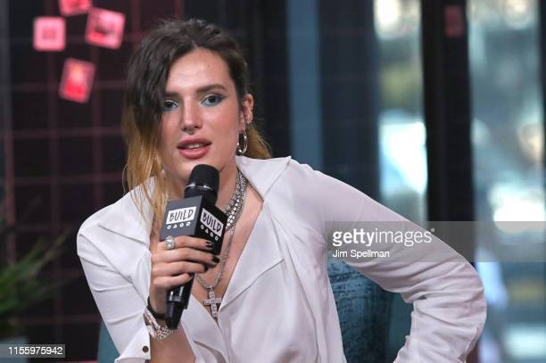 Actress Bella Thorne attends the Build Series to discuss The Life of a Wannabe Mogul A Mental Disarray at Build Studio on June 14 2019 in New York...