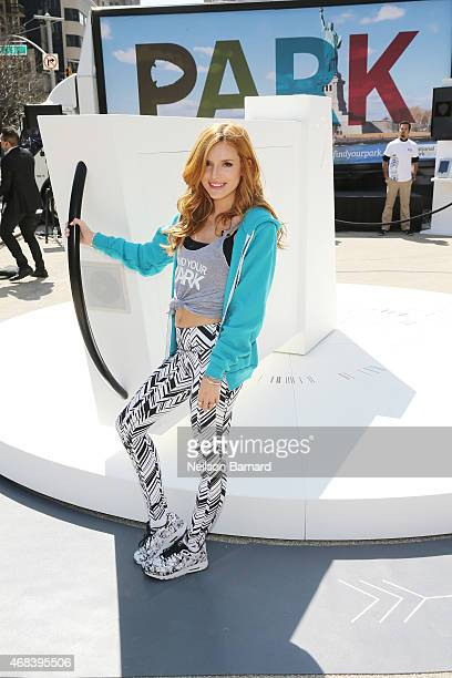 Actress Bella Thorne attends the Find Your Park launch event on April 2 2015 in New York City