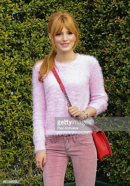 Actress Bella Thorne attends the LoveGold event a celebration of Gold and Glamour at the Chateau Marmont on January 9 2014 in Los Angeles California