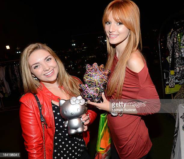 Actress Bella Thorne attends the Nylon Magazine celebration of The October IT Issue and Launch of Hello Kitty Forever presented by Forever 21 and...