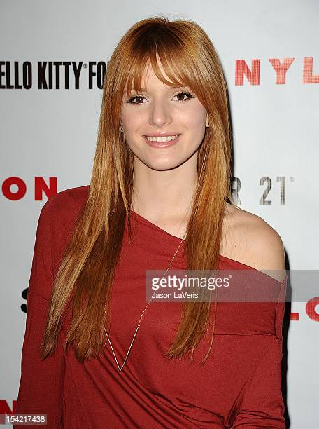 Actress Bella Thorne attends the Nylon October IT issue celebration and launch of the Hello Kitty and Forever 21 collaboration at The London West...