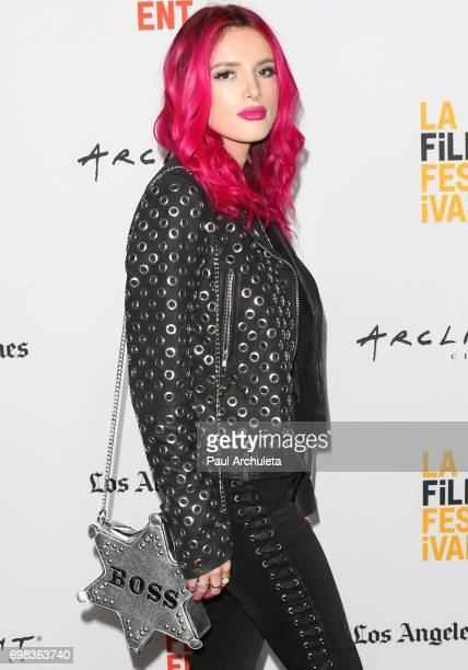 """Actress Bella Thorne attends the premiere of Netflix's """"You Get Me"""" at the 2017 Los Angeles Film Festival at the ArcLight Santa Monica on June 19,..."""