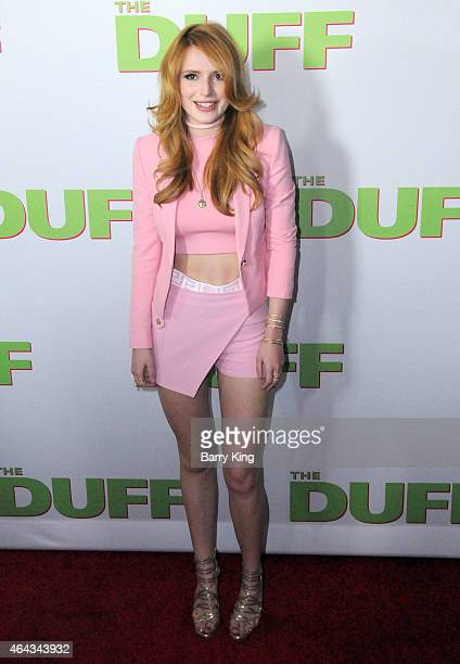 Actress Bella Thorne attends the premiere of 'The Duff' at TCL Chinese 6 Theatres on February 12 2015 in Hollywood California