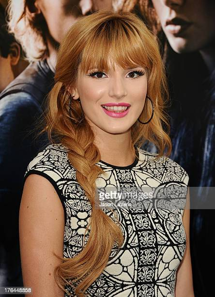 Actress Bella Thorne attends the premiere of 'The Mortal Instruments City Of Bones' at ArcLight Cinemas Cinerama Dome on August 12 2013 in Hollywood...