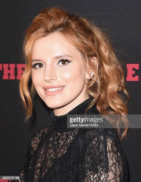 Actress Bella Thorne attends the Premiere of The Weinstein Company's The Hateful Eight at ArcLight Cinemas Cinerama Dome on December 7 2015 in...