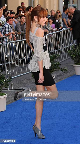 Actress Bella Thorne attends the premiere of Touchstone Pictures' Gnomeo and Juliet at the El Capitan Theatre on January 23 2011 in Hollywood...