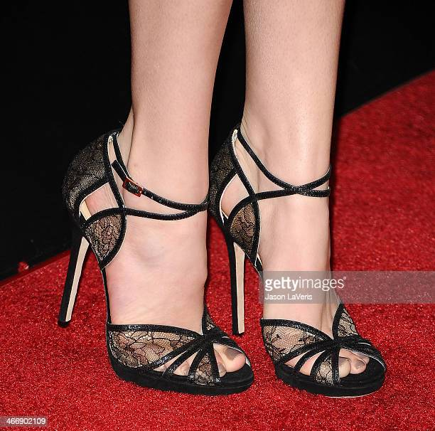 Actress Bella Thorne attends the premiere of Vampire Academy at Regal Cinemas LA Live on February 4 2014 in Los Angeles California