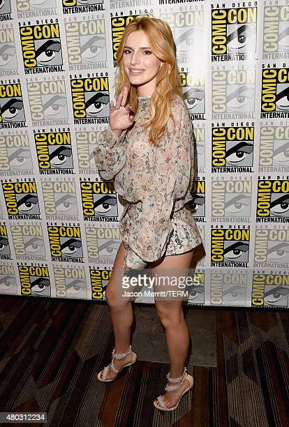 Actress Bella Thorne attends the Scream press room during ComicCon International 2015 at the Hilton Bayfront on July 10 2015 in San Diego California