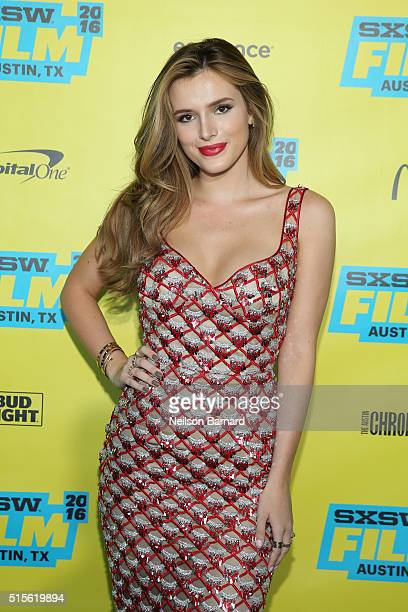 "Actress Bella Thorne attends the ""Shovel Buddies"" premiere during 2016 SXSW Music, Film + Interactive Festival at Topfer Theatre at ZACH on March 14,..."